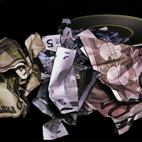 Scrumpled up money